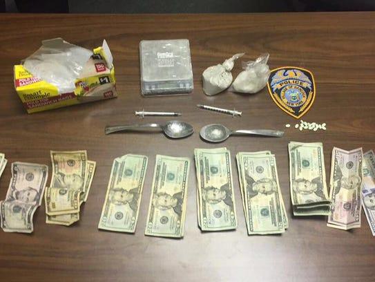 Items found when Braden J. Rose was apprehended.
