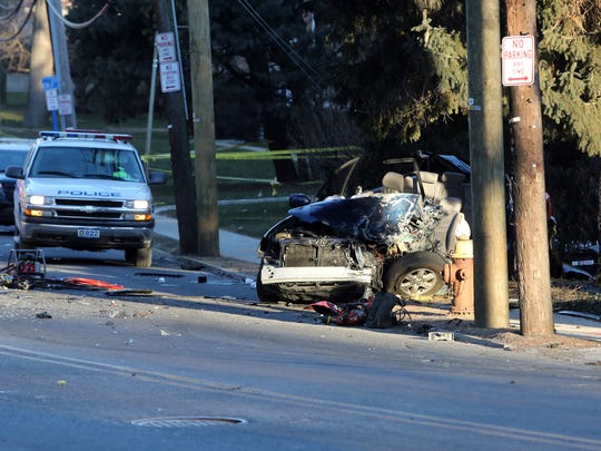 Authorities said off-duty Yonkers police Detective Frank Fernandez was killed early Sunday after his SUV crashed into a Yonkers fire truck on Palmer Road.