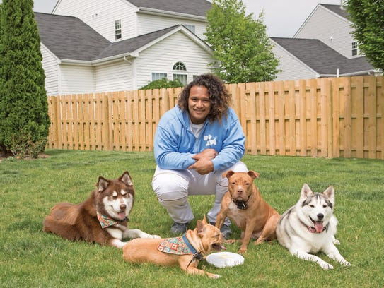 NFL player Danny Shelton struggled with grief and self-destructive behavior after his brother was killed. The love of his adopted pit bull helped turn his life around.