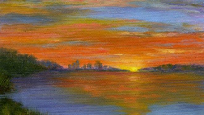 "Beverly Morfeld, ""Ohio Sunset."""