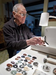 Don Lieb polishes a variety of gems in his home. Lieb