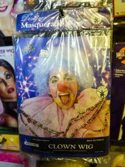 A clown wig for sale at G & L Trophies in North Lebanon