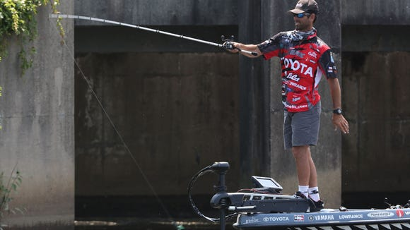 Mike Iaconelli during the Bassmaster Elite Series at Delaware River on Aug 08, 2014.