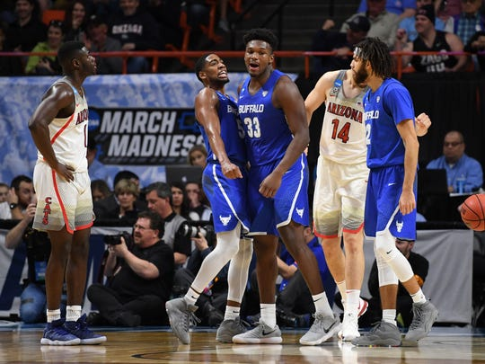 Mar 15, 2018; Boise, ID, USA; Buffalo Bulls guard CJ
