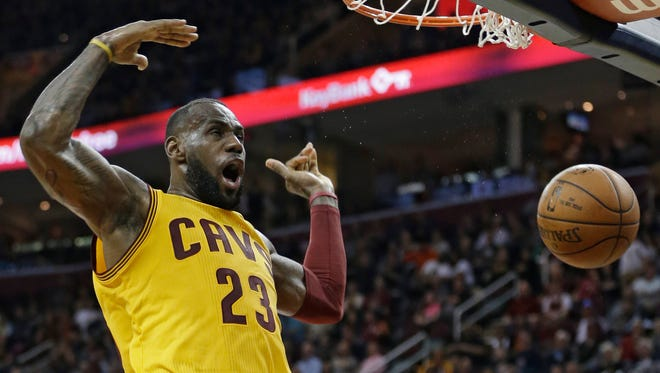 Cleveland Cavaliers' LeBron James will sit tonight against the Pistons.