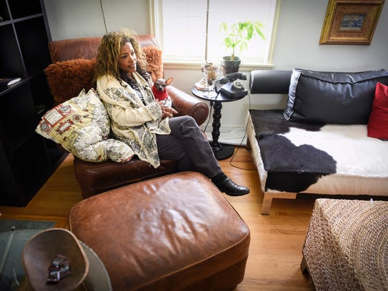 Bel Kambach talks about her liver disease, primary biliary cholangitis, during an interview Wednesday, Oct. 11, at her home.