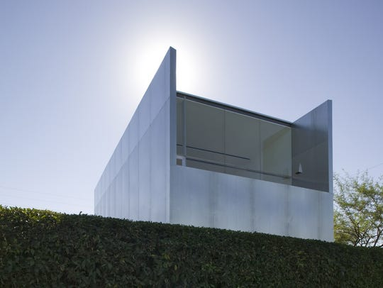 "The second story home studio is a ""silver box"" oriented"