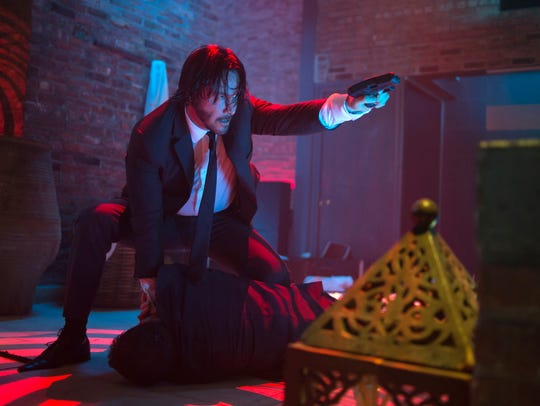 Keanu Reeves as John Wick in a scene from the film,