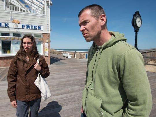 Dorian Corrigan and his wife Lori of Millsboro at Bethany Beach.