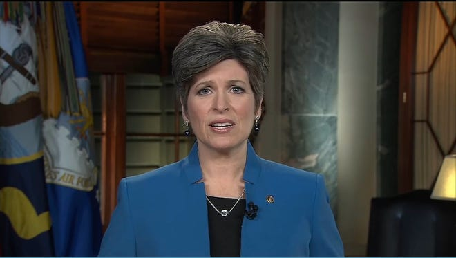 Sen. Joni Ernst (R-Iowa) delivers the Republican response after President Obama's State of the Union address Tuesday night.