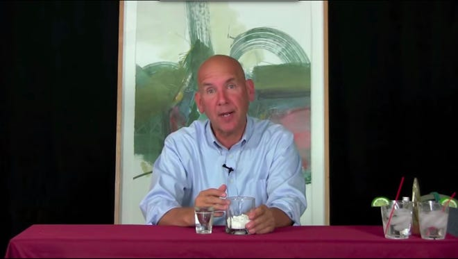 Palcohol creator Mark Phillips shows how his product works in a video posted to YouTube.
