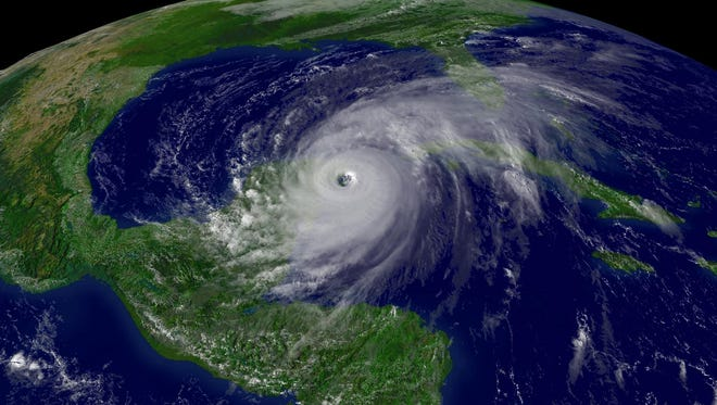 Hurricane Wilma, seen at 3:15 p.m. on Oct. 21, 2005, was the last major hurricane (Category 3, 4 or 5) to hit the United States.