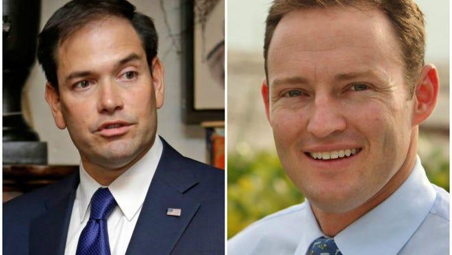 Republican Marco Rubio and Democrat Patrick Murphy.