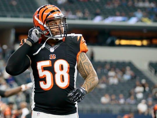 Cincinnati Bengals middle linebacker Rey Maualuga (58)
