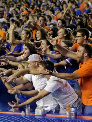 Florida fans will greet visiting Tennessee on Sept. 26.