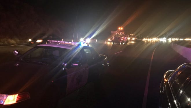 A pedestrian was struck by a vehicle and killed on eastbound Highway 118 in Simi Valley, causing traffic delays in the area, officials said.
