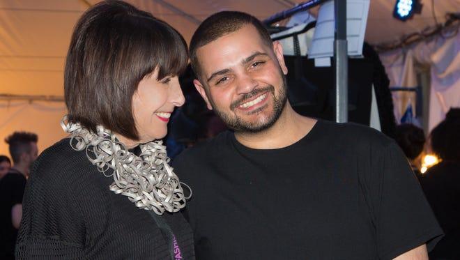 Fashion Week El Paseo Director/Producer Susan Stein and Fashion Designer Michael Costello.