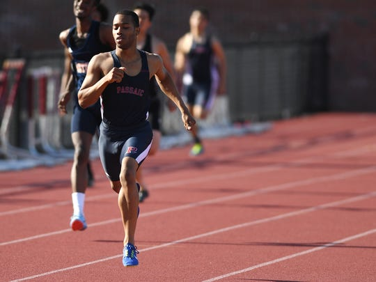 Luis Peralta of Passaic broke not only a North 1, Group 4 state sectional mark in the 800, but ran the fastest 800 ever in any sectional with his 1:50.89 on Saturday, May 26, 2018. Peralta also won the 400 on Friday.