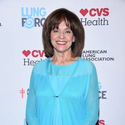 Valerie Harper, seen here at a May 2015 lung cancer event, was rushed to the hospital during intermission   of her Maine theater performance.