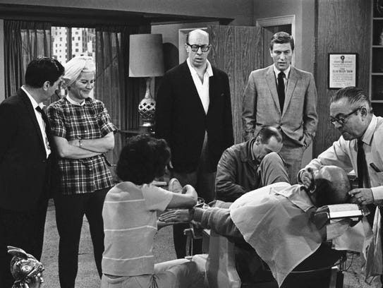 Rose Marie (second from left) joins co-stars Morey