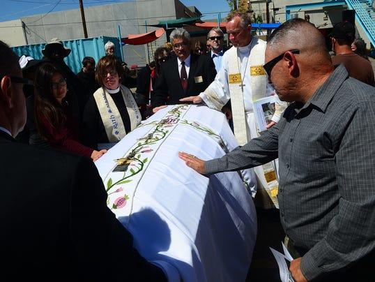 AP Albuquerque Police Shooting-Memorial