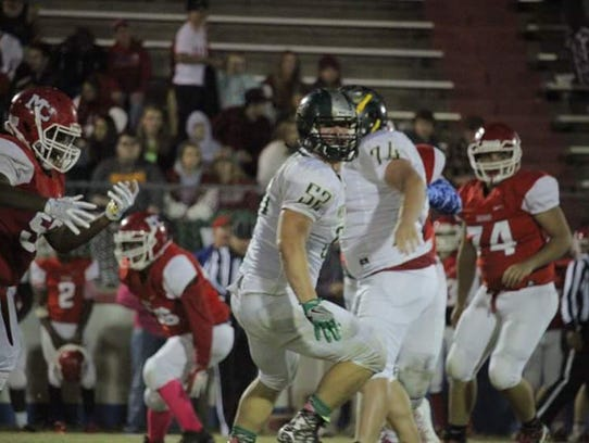 Shane Carney (52) was a standout on the offensive and