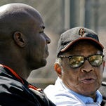 The Giants had two of the best ever to play the game in Barry Bonds, left, and his godfather, Hall of Famer Willie Mays.