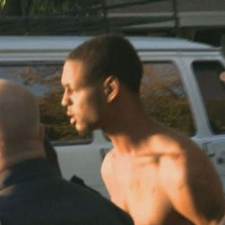 This suspect was in custody following a standoff Oct. 29, 2014 in Elk Grove, Calif. that police say is related to the Oakland road rage killing of a mother of 4.