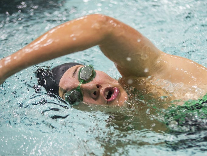 Sarah Schuster of Wauwatosa West high school competes
