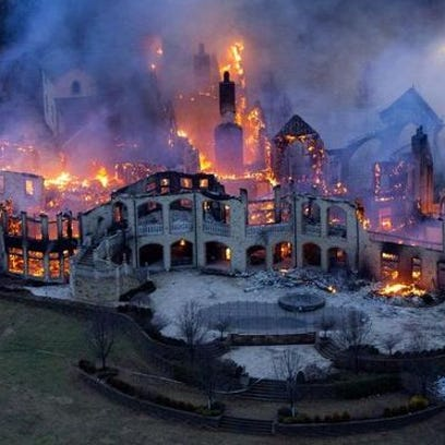 This mansion in Indian Hill caught fire in 2014. Its