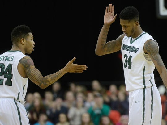 UW-Green Bay guard Keifer Sykes attended Marshall High School in Chicago, where he was teammates and good friends with Phoenix senior forward Alfonzo McKinnie.
