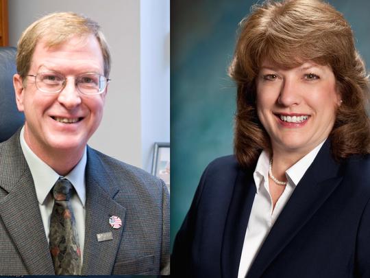 Incumbent Michael Sedlak and challenger Linda Taylor are running for Green OakTownship clerk
