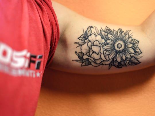 A custom tattoo by Mark Gilliam.