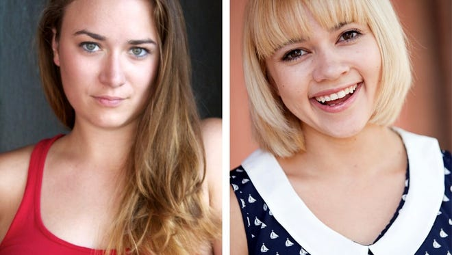 """Emily Rourke and Michelle Foletta appear in Eve Ensler's THE VAGINA MONOLOGUES in the Roxy Regional Theatre's theotherspace, January 12 - January 27"""""""