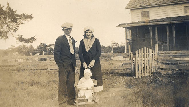 Ervin and Olive Bowen are shown with their son, Alton, on Hog Island in the early 1930s. Alton Bowen is the grandfather of staff writer Malissa Watterson. He is one of the few remaining Virginia Shore residents born on Hog Island living today.