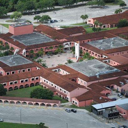 Aerial view of Sebastian River High School.