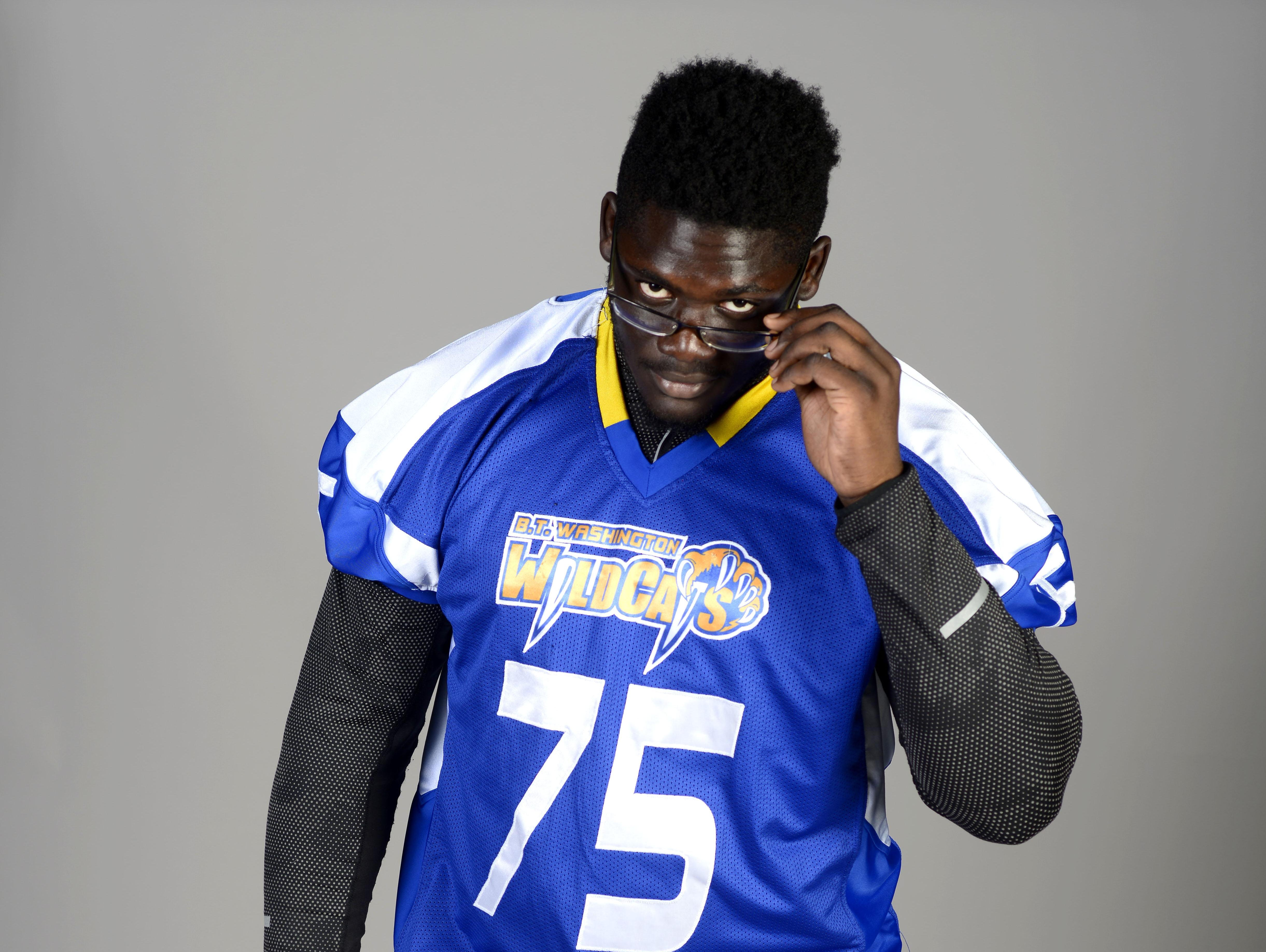 Washington High's Alex Leatherwood will be representing the Wildcats at The Opening at the Nike World Headquarters in Beaverton, Oregon. He and Navarre's Nick Brahms will be two of only 22 offensive linemen invited to the prestigious event.