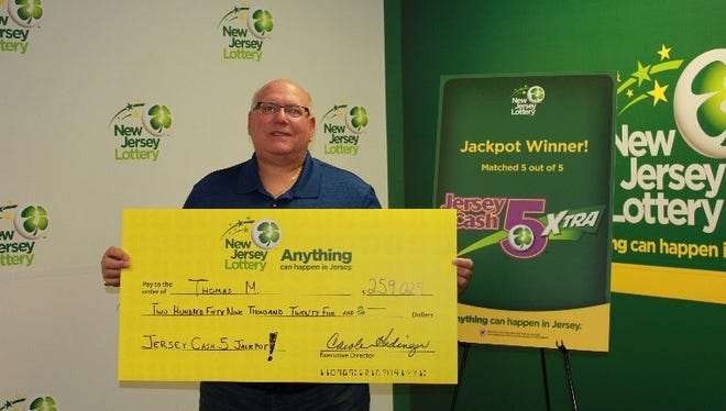 Thomas M. of Marlboro is one of the two Jersey Cash 5 winners.