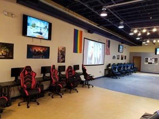 The Battle Ground Zero e-sport arena in the Galleria