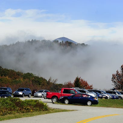 Mt. Pisgah rises above the parking area at Graveyard Fields on the Blue Ridge Parkway. The Parkway Foundation helped to fund a major renovation at the popular hiking area last year.