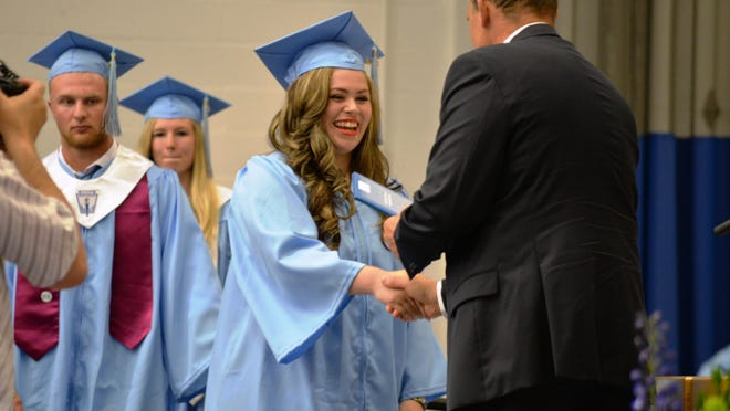 Brooke Tye graduates from South Burlington High School at Saint Michael's College in Colchester on June 13.
