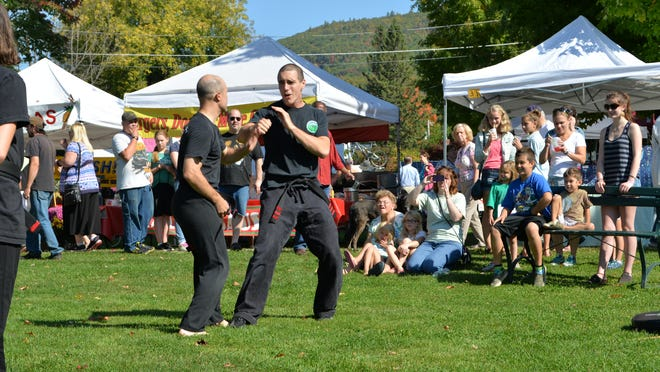 Mountain Kenpo Demonstration on the green in Bristol at the 16th annual Bristol Harvest Festival on Saturday.
