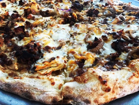 Smoked BBQ chicken pizza from Chatterbox on the Beach