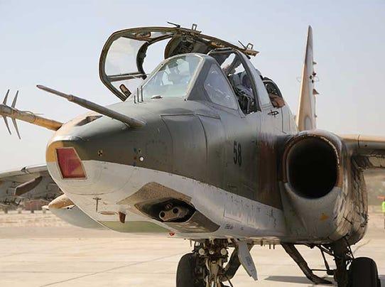 Sukhoi-25 jet fighter