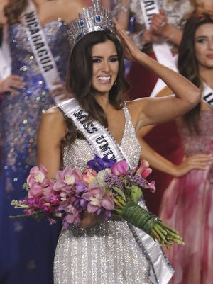 Miss Colombia Paulina Vega crowned Miss Universe onstage during The 63rd Annual Miss Universe Pageant at Florida International University on January 25, 2015 in Miami, Florida.