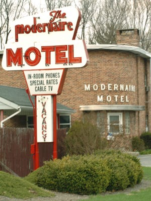 The Modernaire Motel at East Market Street and Mount Zion Road is one of several historic structures that could be affected by rezoning plans in Springettsbury Township.
