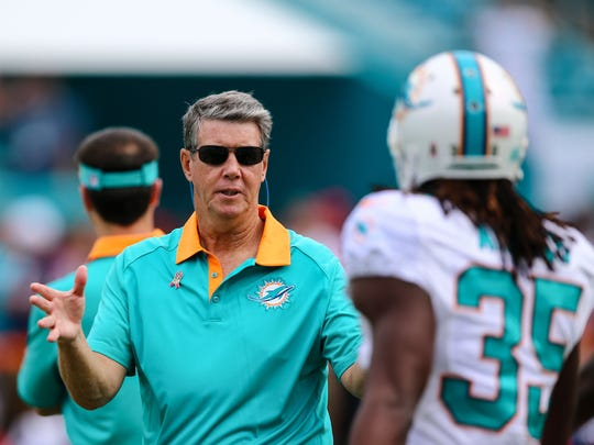 Ken O'Keefe spent five years with the Miami Dolphins; four as a receivers coach and last season as an analyst.
