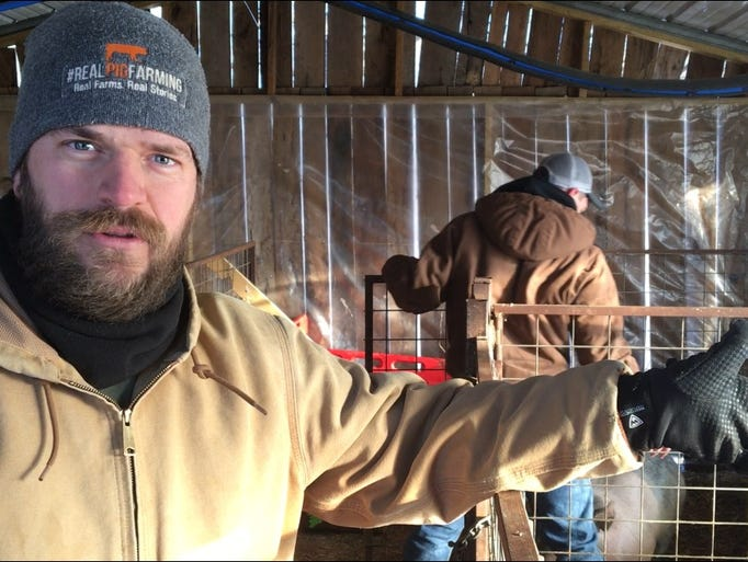 Riverdale High School ag teacher Michael Shirley talks