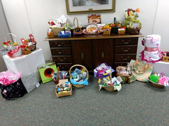 Women's Care on South Trimble Road is raising money for the Pat Kracker Breast Cancer Fund by raffling off themed baskets.