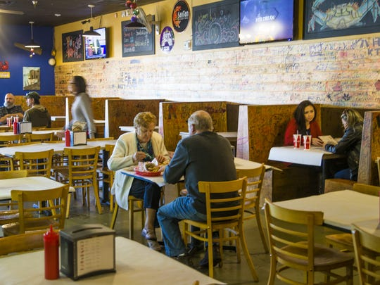The Angry Crab Shack offers oysters in a number of